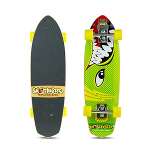 "SmoothStar Surfing Skateboard - 30"" Barracuda Yellow and Green"