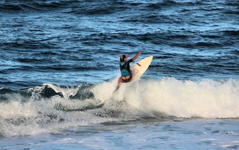 Ben Collison Surfing