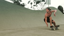Backhand Bottom Turn.  Harley KayTeamrider Gold Coast Australia
